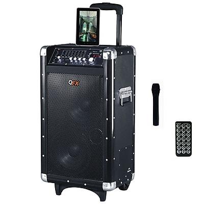 QFX PBX-3080BT 600W Battery Powered Bluetooth PA Speaker, Black