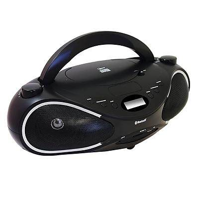 Axess® PBBT2702 Portable Bluetooth Boombox With 3.5 mm MP3/CD/USB/SD/MMC Card Slot Input Player
