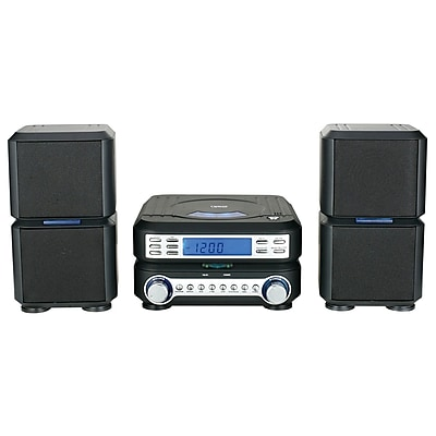 Naxa® NS-438 Digital CD Micro System With AM/FM Stereo Radio, Black