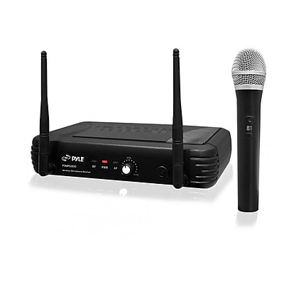 Pyle® PDWM1800 Premier Series Professional UHF Wireless Handheld Microphone System, Black