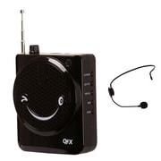 QFX CS-80US Portable PA System With USB/MICRO-SD and FM Radio, 100 W, Black