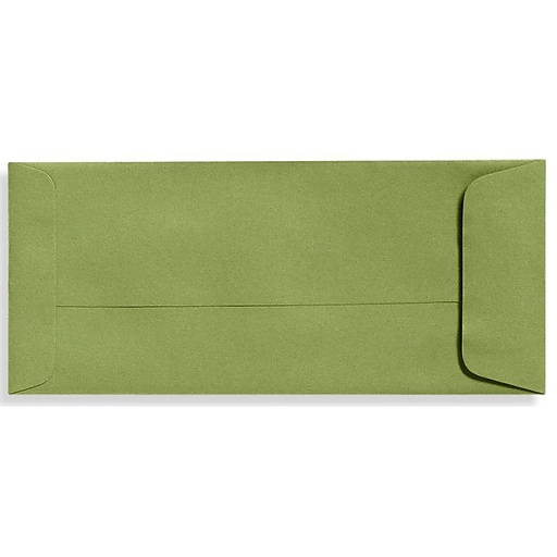 """LUX® 4 1/8"""" x 9 1/2"""" #10 70lbs. Open End Envelopes, Avocado Green, 50/Pack"""