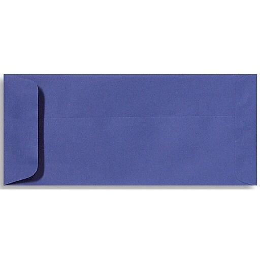"LUX® 4 1/8"" x 9 1/2"" #10 70lbs. Open End Envelopes, Boardwalk Blue, 50/Pack"