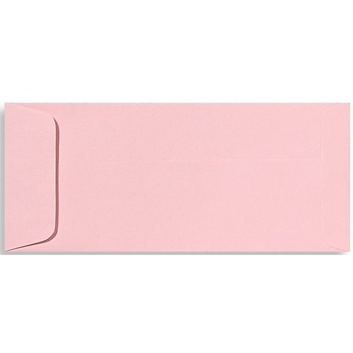 """LUX® 4 1/8"""" x 9 1/2"""" #10 70lbs. Open End Envelopes; Candy Pink, 50/Pack"""