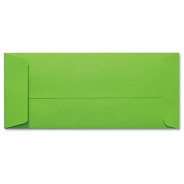 LUX Peel & Press #10 Open End Envelopes (4 1/8 x 9 1/2) 500/Box, Limelight Green (LUX-7716-101500)