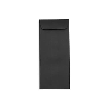 LUx Peel & Press #10 Open End Envelopes (4 1/8 x 9 1/2) 500/Box, Midnight Black (7716-B-500)
