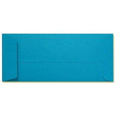 LUX Peel & Press #10 Open End Envelopes (4 1/8 x 9 1/2) 500/Box, Pool Blue (LUX-7716-102500)