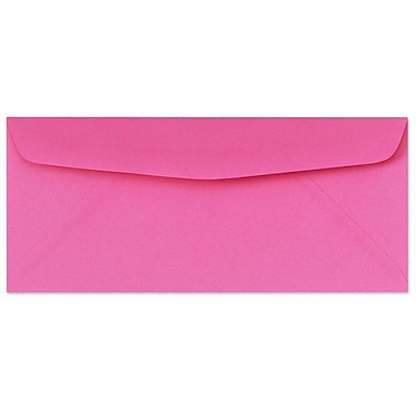 LUX Moistenable Glue #10 Regular Envelopes (4 1/8 x 9 1/2) 250/Box, Bright Fuchsia (4260-16-250)