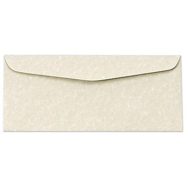 LUX Moistenable Glue #10 Regular Envelopes (4 1/8 x 9 1/2) 500/Box, Cream Parchment (6660-11-500)