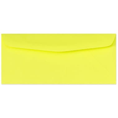 LUX Moistenable Glue #10 Regular Envelopes (4 1/8 x 9 1/2), Electric Yellow, 500/Box (4260-20-500)
