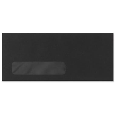 LUX Moistenable Glue #10 Window Envelopes (4 1/8 x 9 1/2), Midnight Black