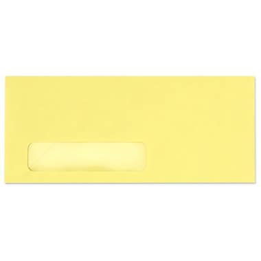 LUX Moistenable Glue #10 Window Envelopes (4 1/8 x 9 1/2), Pastel Canary, 250/Box (11824-250)