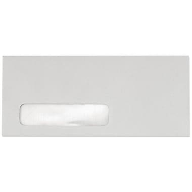 LUX Moistenable Glue #10 Window Envelopes (4 1/8 x 9 1/2), Pastel Gray, 1000/Box (51384-1000)