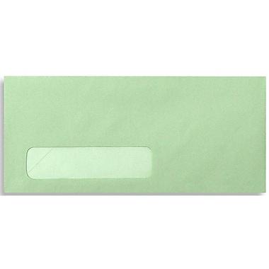 LUX Moistenable Glue #10 Window Envelopes (4 1/8 x 9 1/2) 1000/Box, Pastel Green (4058-1000)