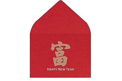 LUX #17 Mini Envelopes (2 11/16 x 3 11/16) 500/Box, Chinese New Year (LEVC-96-500)