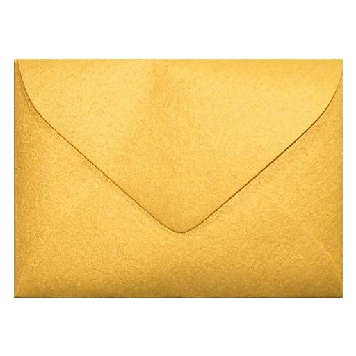LUX #17 Mini Envelopes (2 11/16 x 3 11/16) 50/Box, Gold Metallic (MINSDG-50)