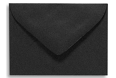 LUX #17 Mini Envelopes (2 11/16 x 3 11/16) 500/Box, Midnight Black (MINBLK-500)