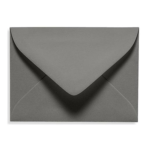 """LUX® 2 11/16"""" x 3 11/16"""" 70lbs. #17 Mini Envelopes W/Glue, Smoke Gray, 50/Pack"""