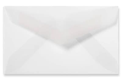 LUX #3 Mini Envelopes (2 1/8 x 3 5/8) 500/Box, Clear Translucent (CV900-500)