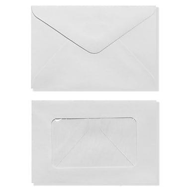 LUX #56 Mini Window Envelope (3 x 4 1/2) 50/Box, White (EN5603-50)