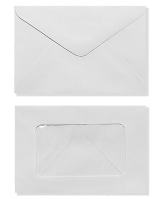 LUX #56 Mini Window Envelope (3 x 4 1/2) 50/Box, White (EN5603-50)