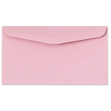 LUX #6 3/4 Regular Envelopes (3 5/8 x 6 1/2) 50/box, Pastel Pink (72660-50)