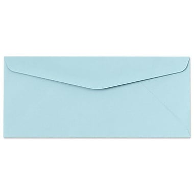 LUX Moistenable Glue #9 Regular Envelopes (3 7/8 x 8 7/8) 500/Box, Pastel Blue (72991-500)