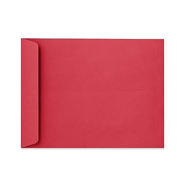 LUX 10 x 13 Open End Envelopes 50/Box, Holiday Red (FE-7300-15-50)