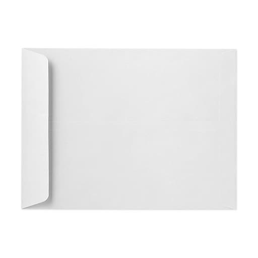 "LUX® 12 1/2"" x 18 1/2"" 28lbs. Jumbo Open End Envelopes, Bright White, 50/Pack"