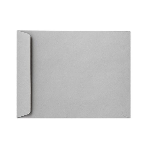 "LUX® 13"" x 17"" 28lbs. Jumbo Open End Envelopes, Gray Kraft, 50/Pack"