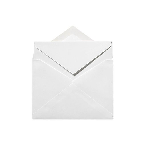 LUX 4 5/8 x 6 1/4 Inner Envelopes (No Glue) 50/Box, 70lb. Bright White (SIVV915-50)