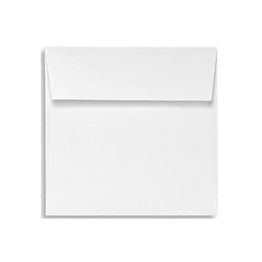 LUX ? Enveloppes carrées 5 1/2 x 5 1/2 po, blanc brillant, 100 % coton, 500/boîte (8515-SW-500)