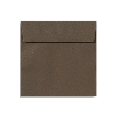 LUX 5 1/2 x 5 1/2 Square Envelopes 50/Box) 50/Box, Chocolate (EX8515-17-50)