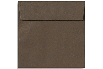 LUX 5 1/2 x 5 1/2 Square Envelopes 250/Box) 250/Box, Chocolate (EX8515-17-250)