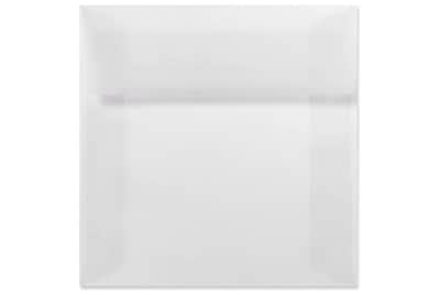 LUX 5 1/2 x 5 1/2 Square Envelopes 1000/Box) 1000/Box, Clear Translucent (8515-50-1000)
