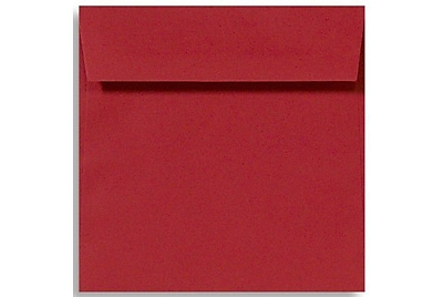 LUX 5 1/2 x 5 1/2 Square Envelopes 50/Box) 50/Box, Holiday Red (8515-15-50)