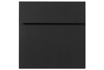 LUX 9 x 9 Square Envelopes 50/Box) 50/Box, Midnight Black (F-8585-B-50)