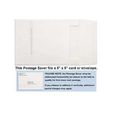 LUX 5 x 5 Postage Saver (7 1/4 x 5 1/4) 50/Box, 70lb. Bright White (55PS-W-50)