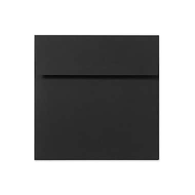 LUX 5 x 5 Square Envelopes 50/Box) 50/Box, Black Linen (8505-BLI-50)