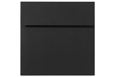 LUX 5 x 5 Square Envelopes 250/Box) 250/Box, Black Linen (8505-BLI-250)