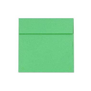 LUX 5 x 5 Square Envelopes 50/Box) 50/Box, Holiday Green (8505-12-50)