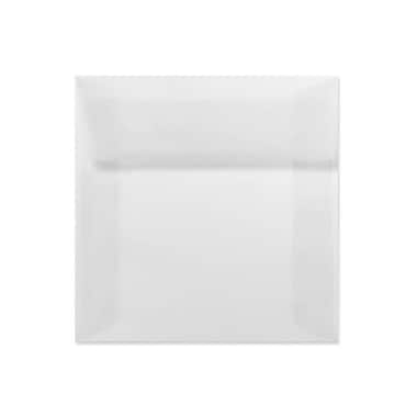 LUX 5 x 5 Square Envelopes 50/Box) 50/Box, Clear Translucent (8505-50-50)
