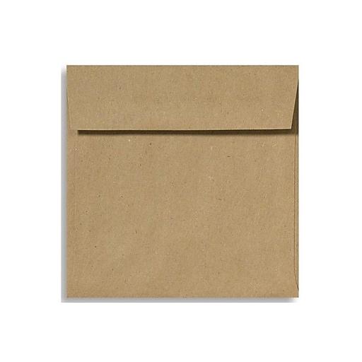 LUX 5 x 5 Square Envelopes 50/Box) 50/Box, Grocery Bag (8505-GB-50)