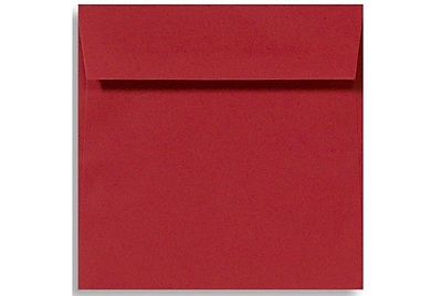 LUX 5 x 5 Square Envelopes 50/Box) 50/Box, Holiday Red (8505-15-50)