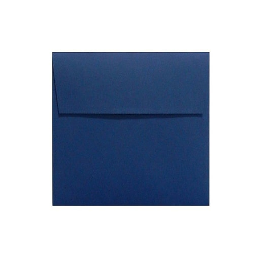 LUX 7 x 7 Square Envelopes 50/Box) 50/Box, Navy (LUX-8545-103-50)