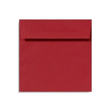 LUX 5 x 5 Square Envelopes, Ruby Red, 50/Box (8505-18-50)