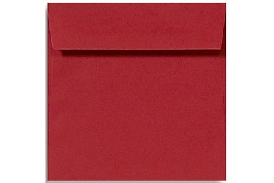 LUX 5 x 5 Square Envelopes 500/Box) 500/Box, Ruby Red (8505-18-500)