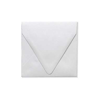 LUX 5 x 5 Square Contour Flap Envelopes, Crystal Metallic, 1000/Box (1840-30-1000)