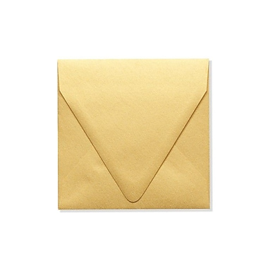 LUX 5 x 5 Square Contour Flap Envelopes 50/Box) 50/Box, Gold Metallic (1840-07-50)