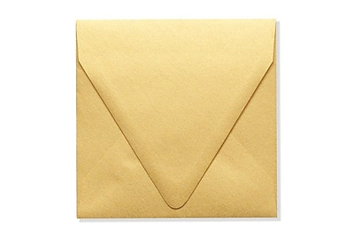 LUX 5 x 5 Square Contour Flap Envelopes 1000/Box) 1000/Box, Gold Metallic (1840-07-1000)